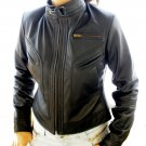 Women's Cropped Motorbike Leather Jacket Style 2900 (USED)