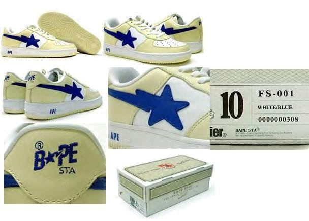 A Bathing Ape Air Force 1 Low (white / blue)