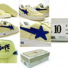 A Bathing Ape Air Force 1 Low (cream / blue)