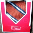 Mens Silk Necktie Tie Merona Orange NIB