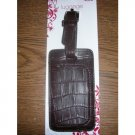 Luggage Tag Brown New
