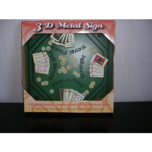 Tin 3d Metal Sign Poker