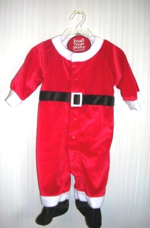 Santa Suit Carter's Just One Year 1 Piece 3 - 6 Months