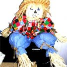 Fall Shelfsitter Shelf Sitter Scarecrow Handmade New