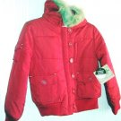Girls Red Coat Water Resistant Route 66 Size 7 8 NWT