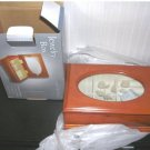 Jewelry Box Light Oak Finish Etched Glass Lid NIB