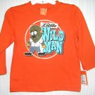 Halloween Shirt Little Wild Man Werewolf Orange Tee 24 Months