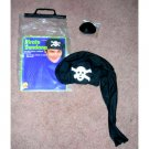 Pirate Bandana Hat Skull and Crossbones Eyepatch
