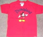 Red Mickey Mouse Disneyland Tee T Shirt Sm