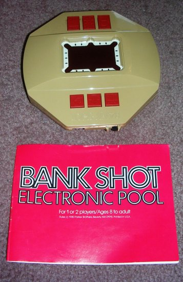 Vintage Handheld Electronic Pool Game Bank Shot Parker Brothers