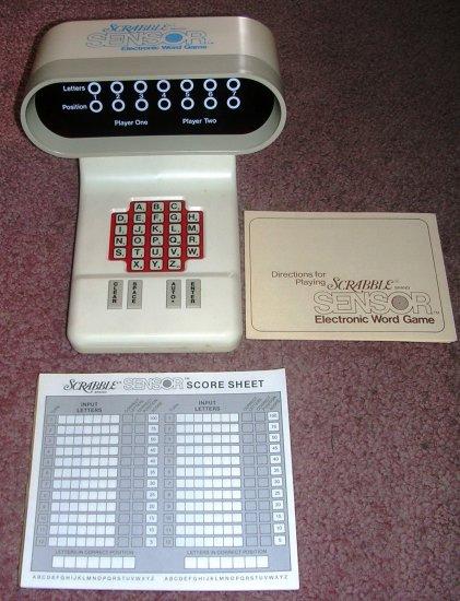 Vintage Scrabble Sensor Electronic Word Game 1978