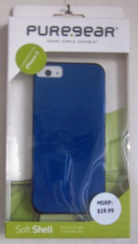iPhone5 Soft Shell Case Blue by Puregear