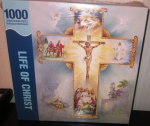 Life Of Christ 1000 Piece Puzzle Interlocking Cross Springbok