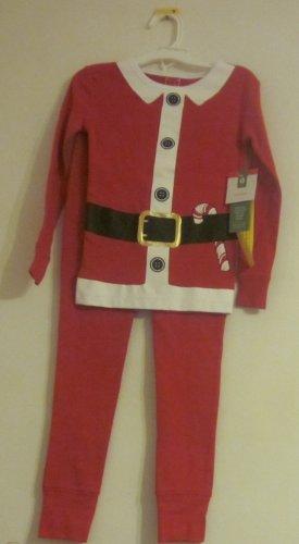 Santa 2 piece pajamas pjs Size 4