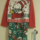 Peanuts Snoopy 2 piece Christmas Pajamas Pjs