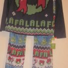 Sleepwear Christmas Pajamas Pjs 2X XXLarge Wreath