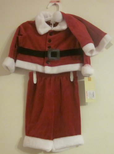 Velvet Santa Suit 3 pieces 3-6 months