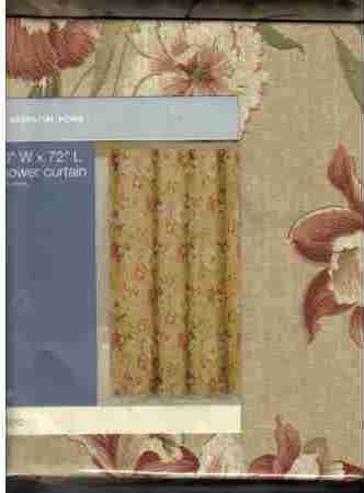 NIP Essential Home Fabric Shower Curtain Ella