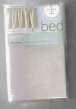 NIP martha stewart khaki boxed suede collection valance