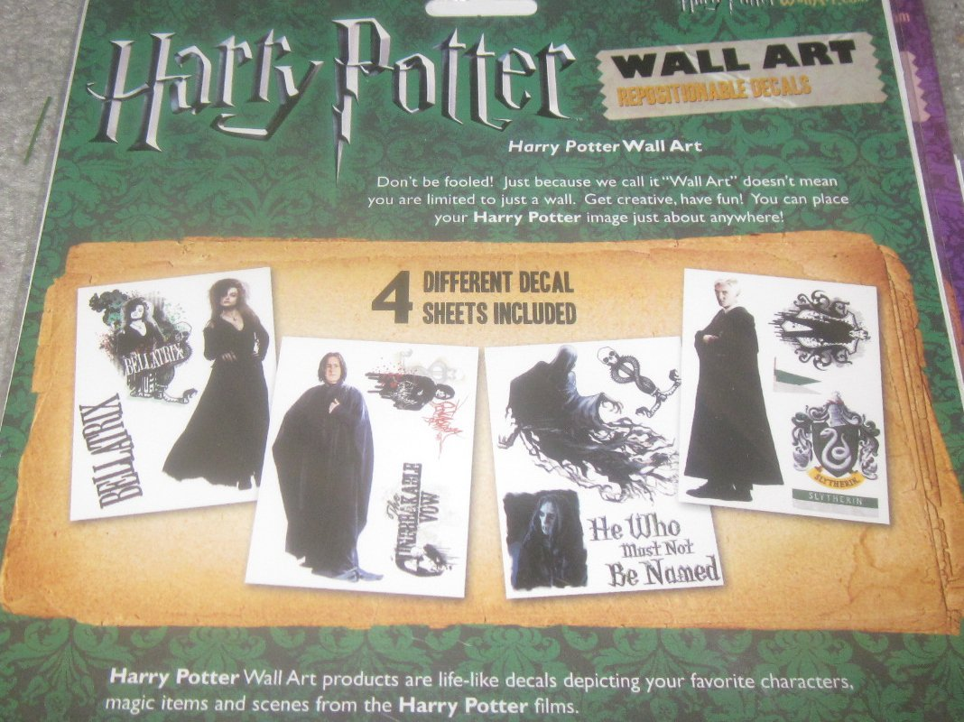 NIP Harry Potter Wall Art Reusable Decals The Dark Arts Collection