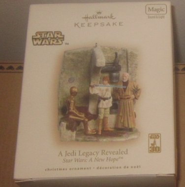 NIB Hallmark Keepsake Ornament Star Wars A Jedi Legacy Revealed Star Wars A New Hope
