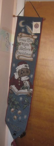 NWT Boyds Bears Bell Pull Tapestry Twas the Night Before Christmas