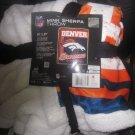 NIP NFL Denver Broncos Mink Sherpa Throw 50x60