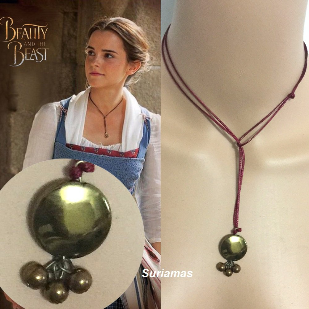 Disney BEAUTY And The BEAST Belle Belle's Lariat Pendant Necklace Cosplay