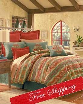 Picante Spice Southwestern Comforter Set W Valance King