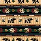3PC Bear Fever Southwest KING Fleece Blanket Bedding Set CBK2127