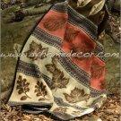 2PC Southwest Fall Adventure Pinecone TWIN Fleece Bedding