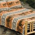 3PC Southwestern Running Horse Fever QUEEN Fleece Bedding CBQ2128