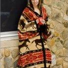 Horse Adventure Southwestern Zippered Robe Blanket Body Wrap ERWA-horseadvent