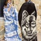 Snowflake Southwestern Fleece Robe Blanket Body Wrap ERWA-SNOW