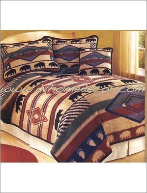 2pc Yuma Bear Southwest Jacquard Twin Bedding Ercbt Yumabear