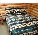 2PC Great Elk Adventure Southwest Jacquard TWIN Bedding ERCBT-elkadvent