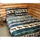 3PC Great Elk Adventure Southwest Jacquard KING Bedding ERCBK-elkadvent