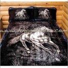 """MIDNIGHT RUN Western Fleece Blanket Throw 50"""" x 60"""" ERT-midnightrun"""