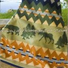 Southwestern Denali ELK BEARS Fleece TWIN Blanket CB1731