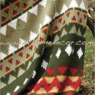 Southwestern Saguaro Sage Green Fleece TWIN Blanket CB1073