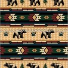 Southwestern Black Bear Fever Fleece TWIN Blanket CB2127