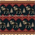 Southwestern Moose Fever Rustic Fleece TWIN Blanket CBCB2126