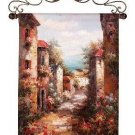 """Venetian Sunset European Hand-Painted Tapestry Wall Hanging 31"""" x 42"""""""