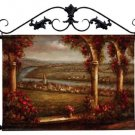 """Village on the River European Hand-Painted Tapestry Wall Hanging 42.5"""" x 34"""""""