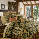 4PC Tropical Island Palms CAL KING Comforter & Valance