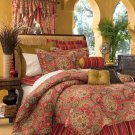 4PC Moroccan RED Dalyan Paisley Twin Comforter CST4650