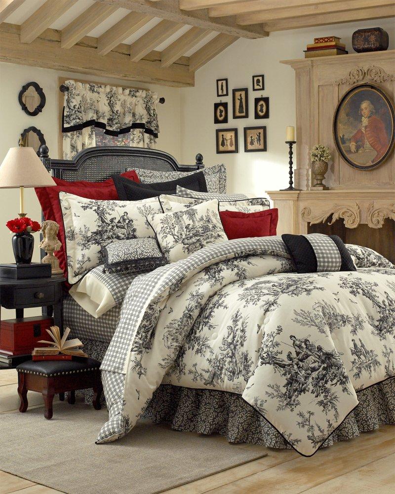 Bouvier Black Amp White French Toile Comforter Cal King 15