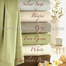 Bamboo WHITE Organic Cotton 300tc QUEEN Sheet Set by Kassatex