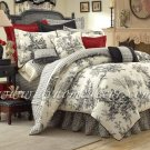 "BOUVIER Black & White French Toile DUVET TWIN 66"" X 90"" DVT2950"