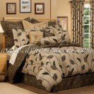 "4PC Tropical Paradise Floral Yvette 18"" Drop KING Comforter CSKL3075"